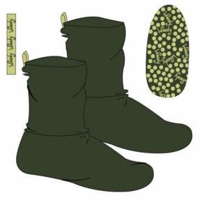 Woody Unisex pantoffels donkergroen productfoto