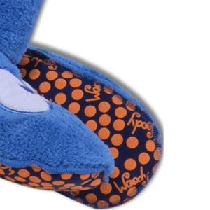 Woody Unisex pantoffels blauw detailfoto
