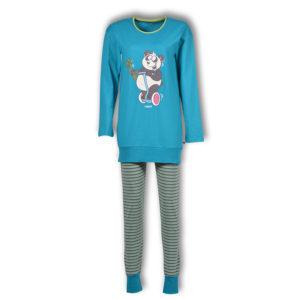 Woody Dames pyjama turquoise productfoto