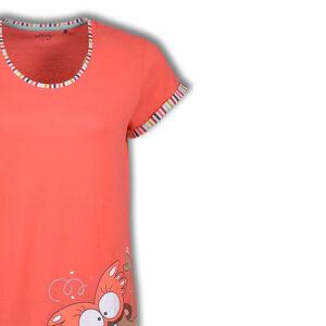 Woody Dames pyjama koraal roze