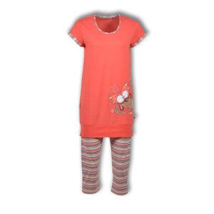 Woody Meisjes pyjama koraal roze