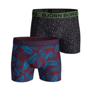 Boxer 2Pack 95% katoen 5% elastan palmleaf and tiny flower