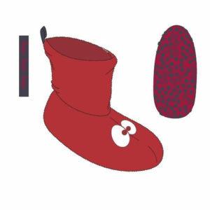 Woody Unisex pantoffels rood